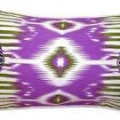 Pillow Decor - Electric Ikat Purple 15x27 Throw Pillow  - SKU: VC1-0009-03-97