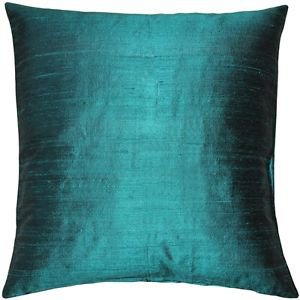 Pillow Decor - Sankara Juniper Green Silk Throw Pillow 18x18