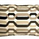 Pillow Decor - Waverly New Twist Caviar 12x20 Outdoor Pillow