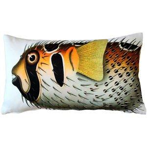 Pillow Decor - Porcupinefish Fish Pillow 12x20  - SKU: PD2-0005-01-92