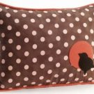 Pillow Decor - Bird Polka Dot Decorative Throw Pillow  - SKU: GC1-0003-01-62