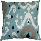 Pillow Decor - Indah Ikat Blue 20x20 Throw Pillow  - SKU: VB1-0029-02-20