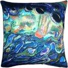 Pillow Decor - Shoal Cape Abalone Close Up Throw Pillow 20x20