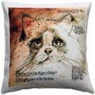 Pillow Decor - Ragdoll Cat Pillow 17x17  - SKU: LE1-0031-01-17