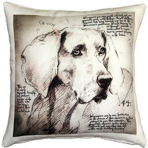 Pillow Decor - Weimaraner 17x17 Dog Pillow  - SKU: LE1-0015-01-17