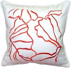 Pillow Decor - Summer Breeze Orange 20x20 Throw Pillow  - SKU: VC1-0007-01-20