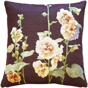 Pillow Decor - Hollyhock Buds Tapestry Throw Pillow  - SKU: AB1-5330-01-20