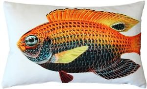Pillow Decor - Princess Damselfish Fish Pillow 12x20  - SKU: PD2-0003-01-92