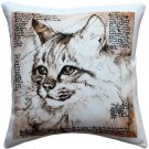 Pillow Decor - Maine Coon 17x17 Cat Pillow  - SKU: LE1-0024-01-17