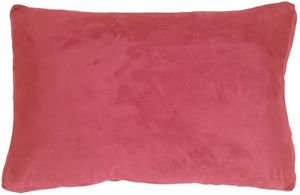 Pillow Decor - 14x22 Box Edge Royal Suede Pink Throw Pillow