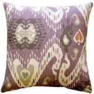 Pillow Decor - Solo Mulberry Ikat Throw Pillow 20x20  - SKU: WB1-0011-01-20