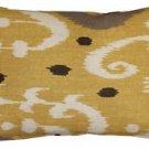 Pillow Decor - Indah Ikat Yellow 12x20 Throw Pillow  - SKU: VB1-0029-04-92
