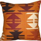 Pillow Decor - Tribal Orange 22x22 Decorative Pillow  - SKU: VB1-0004-01-22