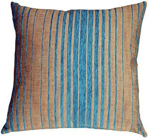 Pillow Decor - Shasta Blue Stripes Throw Pillow  - SKU: HC1-0007-01-22