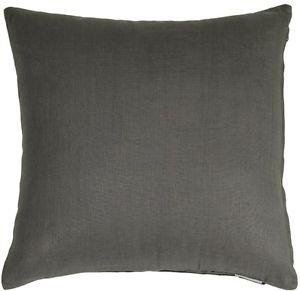 Pillow Decor - Tuscany Linen Elephant Gray 20x20 Throw Pillow
