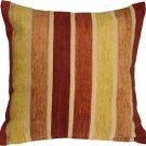 Pillow Decor - Savannah Stripes 20x20 Yellow Orange Chenille Throw Pillow