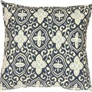 Pillow Decor - Alhambra Handprint Indigo 18X18 Throw Pillow
