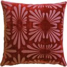 Pillow Decor - Velvet Daisy Red 20x20 Throw Pillow  - SKU: DC1-0005-02-20