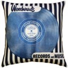 Pillow Decor - Woodward's Records and Music Throw Pillow  - SKU: MOV-0006-01-20