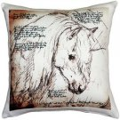 Pillow Decor - The Love of Horses Mare 17x17 Throw Pillow  - SKU: LE1-0014-01-17