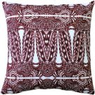 Pillow Decor - Partridge Stamp Marsala Throw Pillow 20x20  - SKU: SK1-0002-02-20