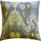Pillow Decor - Solo Gray Ikat Throw Pillow 20x20  - SKU: WB1-0011-02-20