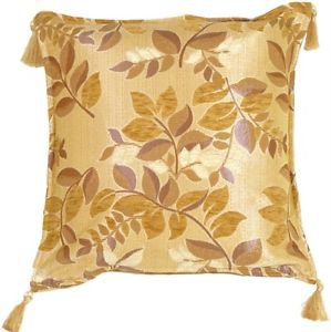 Pillow Decor - Leaf Textures in Neutral and Cream Throw Pillow