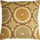 Pillow Decor - Bohemian Medallion Mulberry 20x20 Throw Pillow