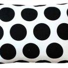 Pillow Decor - Dots and Stripes Throw Pillow 12x18  - SKU: PD2-0200-01-92