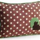 Pillow Decor - Bunny Polka Dot Decorative Throw Pillow  - SKU: GC1-0004-01-62