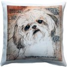 Pillow Decor - Shih Tzu Tilted Head Dog Pillow 17x17  - SKU: LE1-0035-01-17