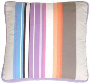 Pillow Decor - Grape & Charcoal Stripes Throw Pillow  - SKU: DB1-0006-02-16