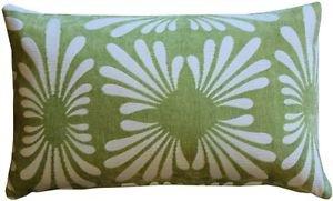 Pillow Decor - Velvet Daisy Green 12x20 Throw Pillow  - SKU: DC1-0005-04-92
