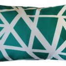 Pillow Decor - Bird's Nest Teal Throw Pillow 12X20  - SKU: PD2-0050-01-92