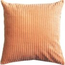 Pillow Decor - Cotton Corduroy Apricot Throw Pillow 16x16  - SKU: FA1-0011-06-16