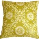 Pillow Decor - Filigree Green 17x17 Throw Pillow  - SKU: WB1-0009-02-17