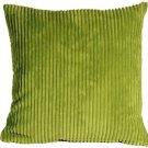Pillow Decor - Wide Wale Corduroy Green 18x18 Throw Pillow