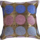 Pillow Decor - Multicolor Spheres Blue Pillow  - SKU: PA1-0045-00-17