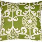 Pillow Decor - Waverly Fun Floret Spruce 20x20 Throw Pillow