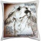 Pillow Decor - Dachshund 17x17 Dog Pillow  - SKU: LE1-0013-01-17
