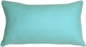 Pillow Decor - Tuscany Linen Turquoise 12x20 Throw Pillow  - SKU: NB1-0005-01-92