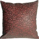 Pillow Decor - Pebbles in Red 12x12 Faux Fur Throw Pillow  - SKU: YA1-0004-01-12