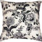 Pillow Decor - Tuscany Linen Floral Print 20x20 Throw Pillow