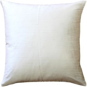 Pillow Decor - Sankara Ivory Silk Throw Pillow 18x18  - SKU: FB1-0001-02-18
