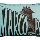 Pillow Decor - Marco Polo Theatre Restaurant 12x20 Blue Throw Pillow