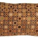 Pillow Decor - Houndstooth Spheres 12x20 Orange Throw Pillow