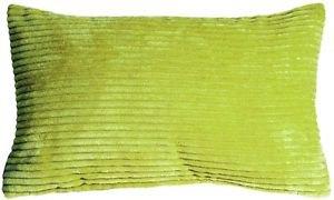 Pillow Decor - Wide Wale Corduroy Green 12x20 Throw Pillow