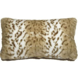 Pillow Decor - Tawny Lynx Faux Fur 12x20 Throw Pillow  - SKU: YB1-0006-01-92