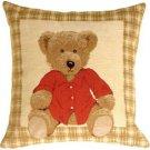 Pillow Decor - Tapestry Hello Teddy Pillow  - SKU: BA1-0001-01-13