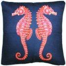 Pillow Decor - Sea Island Sea Horse Reflect Throw Pillow 20x20